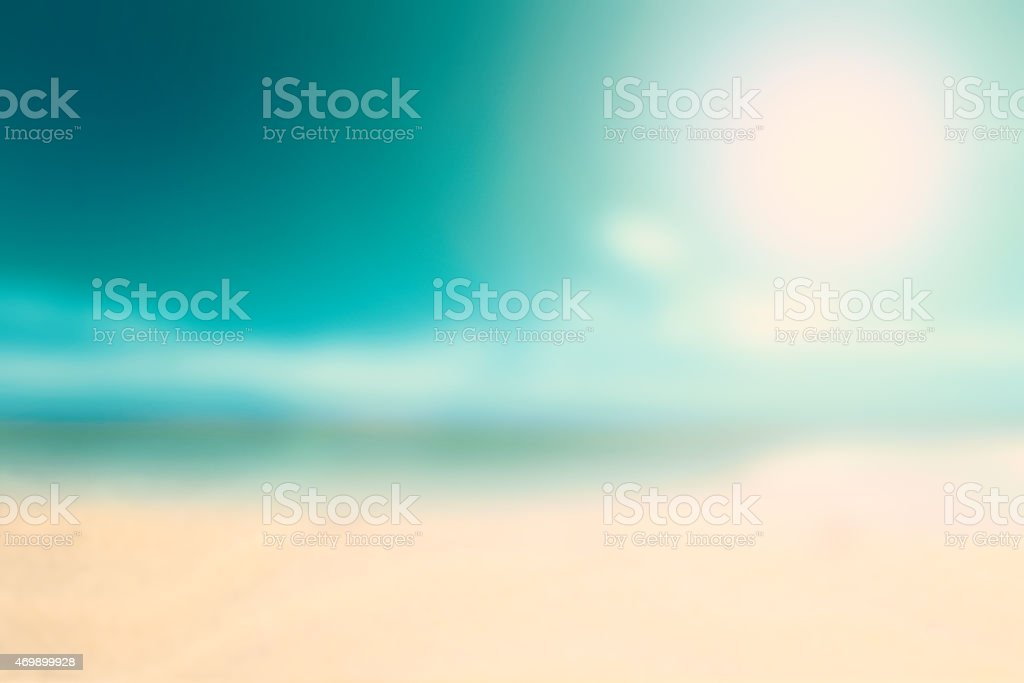 Vintage Background Beach in Summer Season stock photo