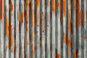 vintage background , rusty metal texture   old  garage door
