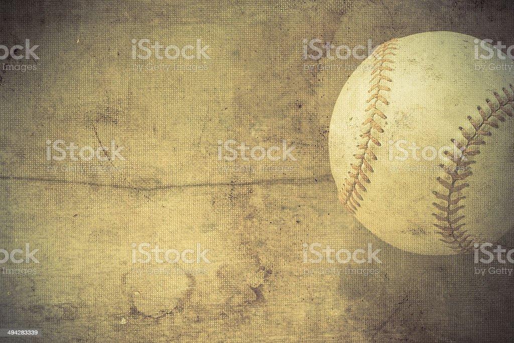 Vintage background with Baseball stock photo