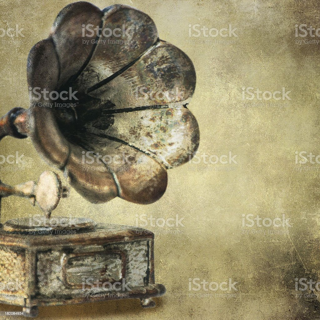 Vintage background with gramophone stock photo