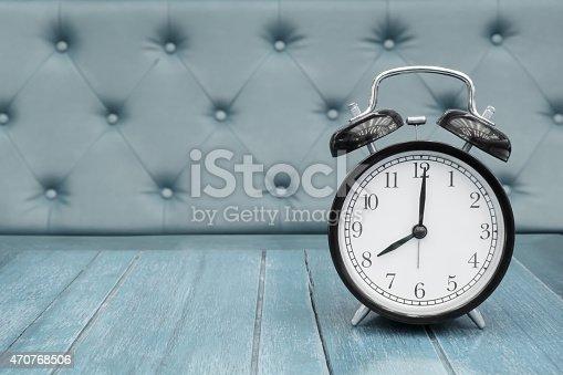 istock Vintage background with retro alarm clock 470768506