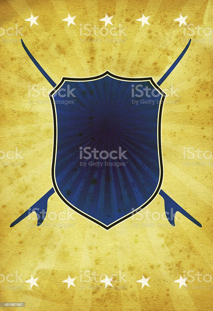 vintage background with surf shield stock photo