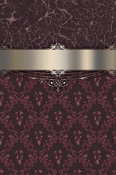 vintage background wwith decorative patterns. - chrome menü stock-fotos und bilder