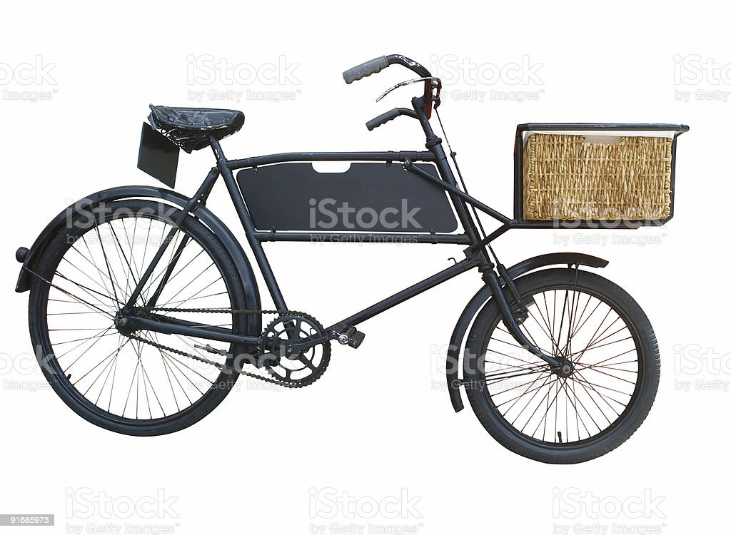 Vintage Baker's Bike stock photo