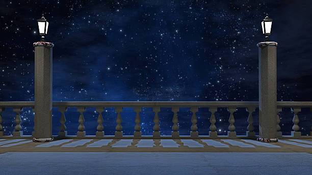 Royalty free balcony at night pictures images and stock for Balcony night view