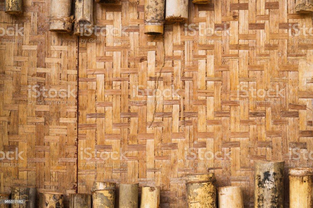Mur de bambou Vintage texturée. - Photo de Abstrait libre de droits