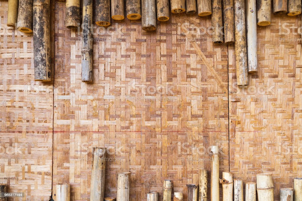 Vintage bamboo wall textured. royalty-free stock photo
