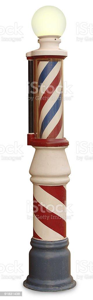 Vintage Barber Pole stock photo