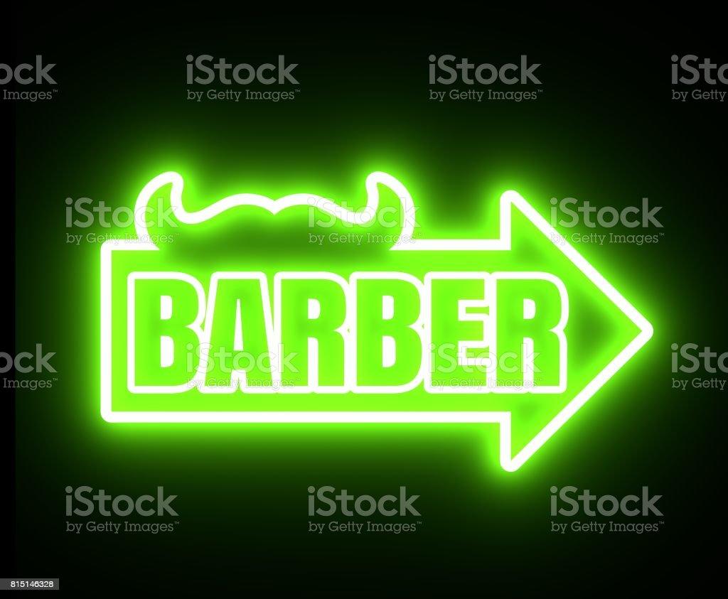 Vintage barber shop emblem or label stock photo
