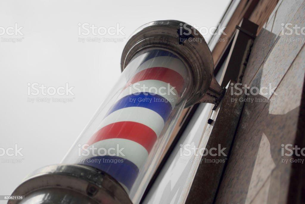 Vintage Barber Shop Pole stock photo