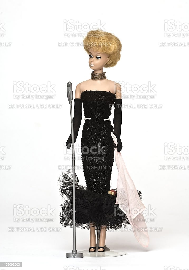 Vintage Barbie stock photo