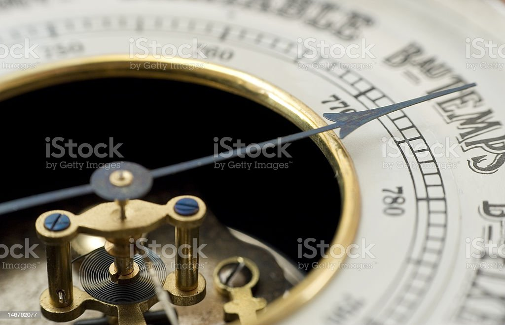 vintage barometer stock photo