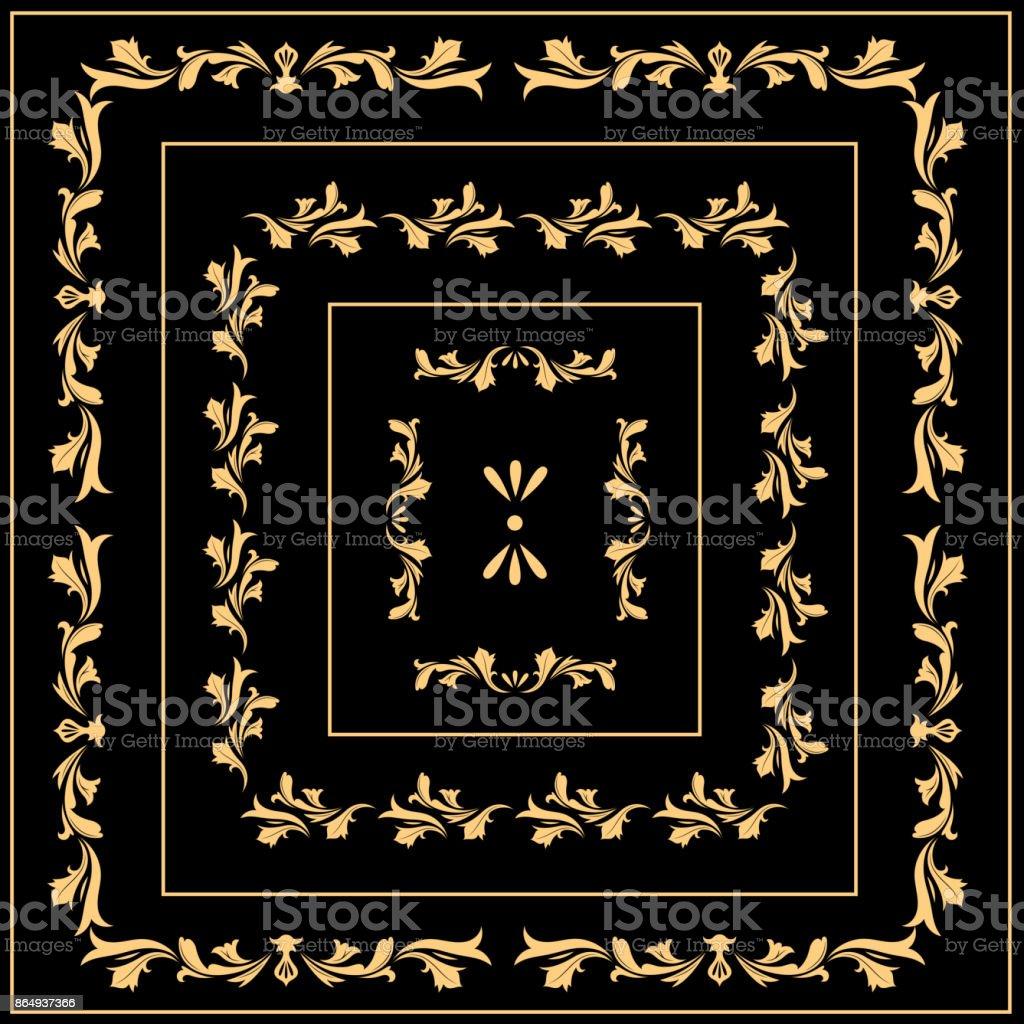 Vintage baroque ornament retro pattern antique style stock photo