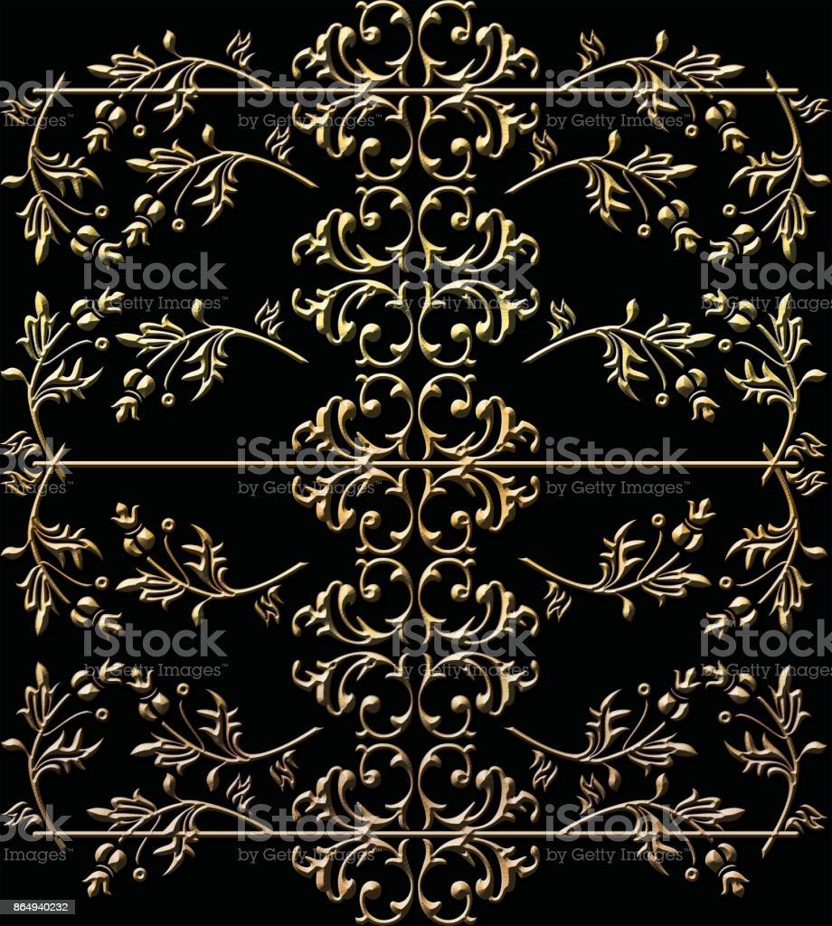Vintage baroque ornament retro pattern antique style stock photo