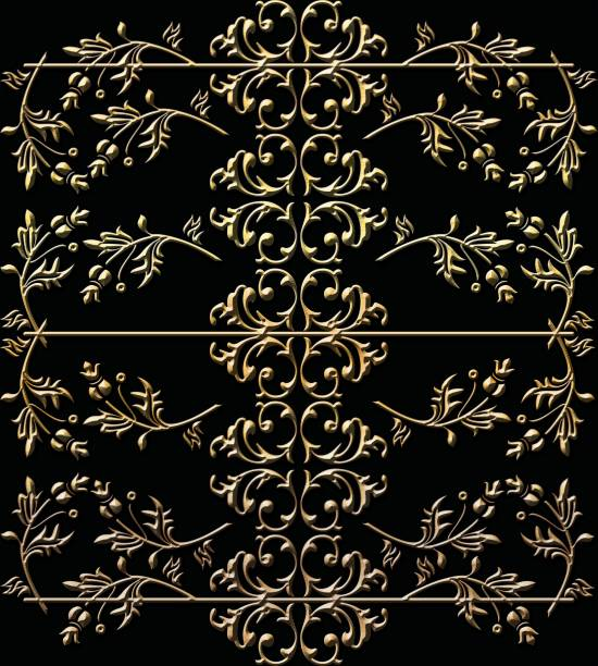 vintage baroque ornament retro pattern antique style - filigree stock photos and pictures