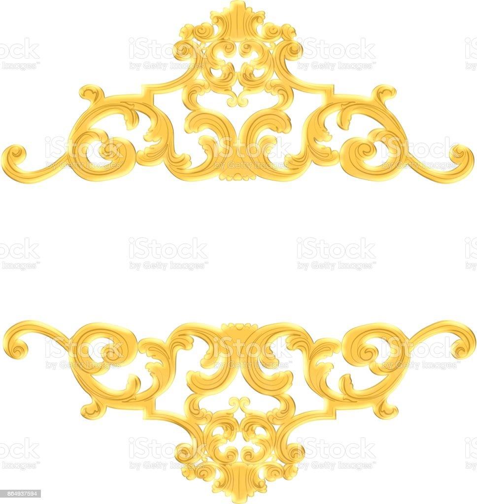 vintage baroque stock photo