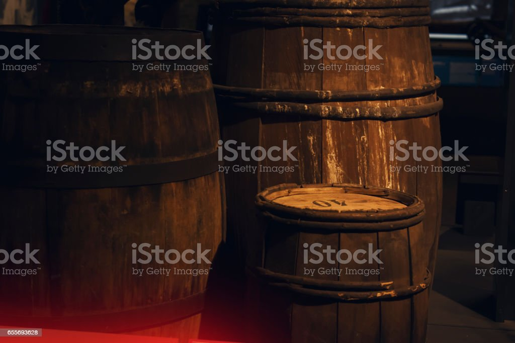 Vintage Barrels stock photo