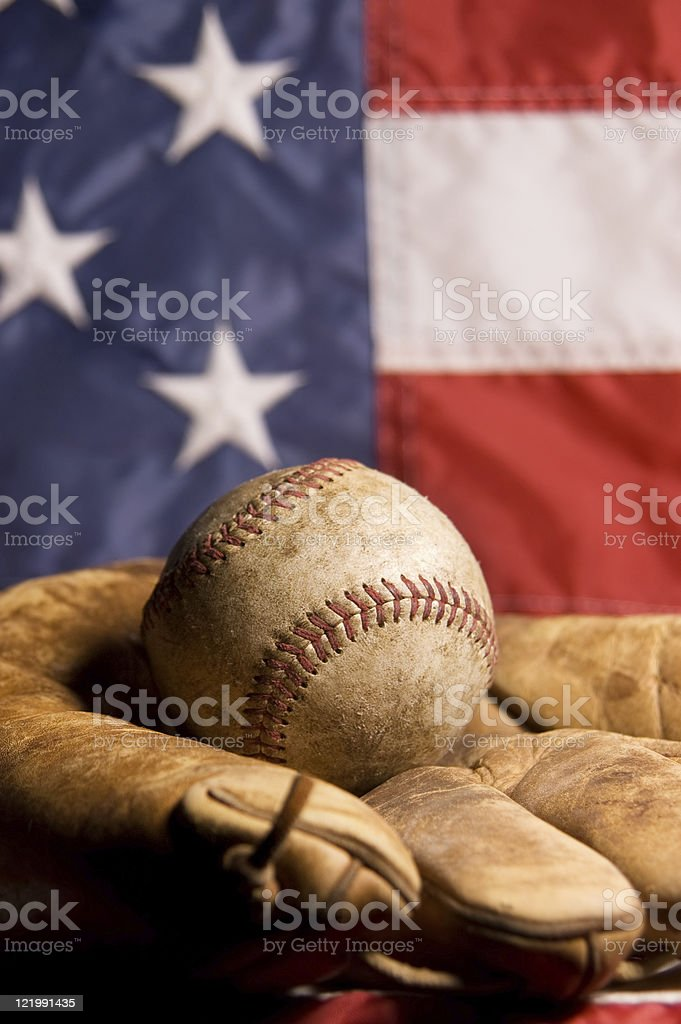 Vintage Baseball and Glove