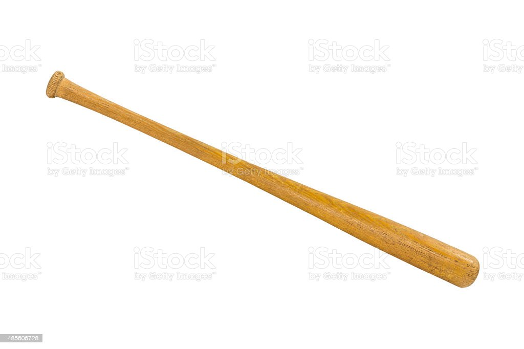 Vintage Baseball Bat Isolated stock photo