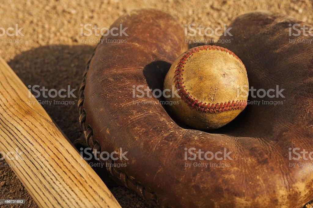 Vintage Baseball Cather's Mitt royalty-free stock photo