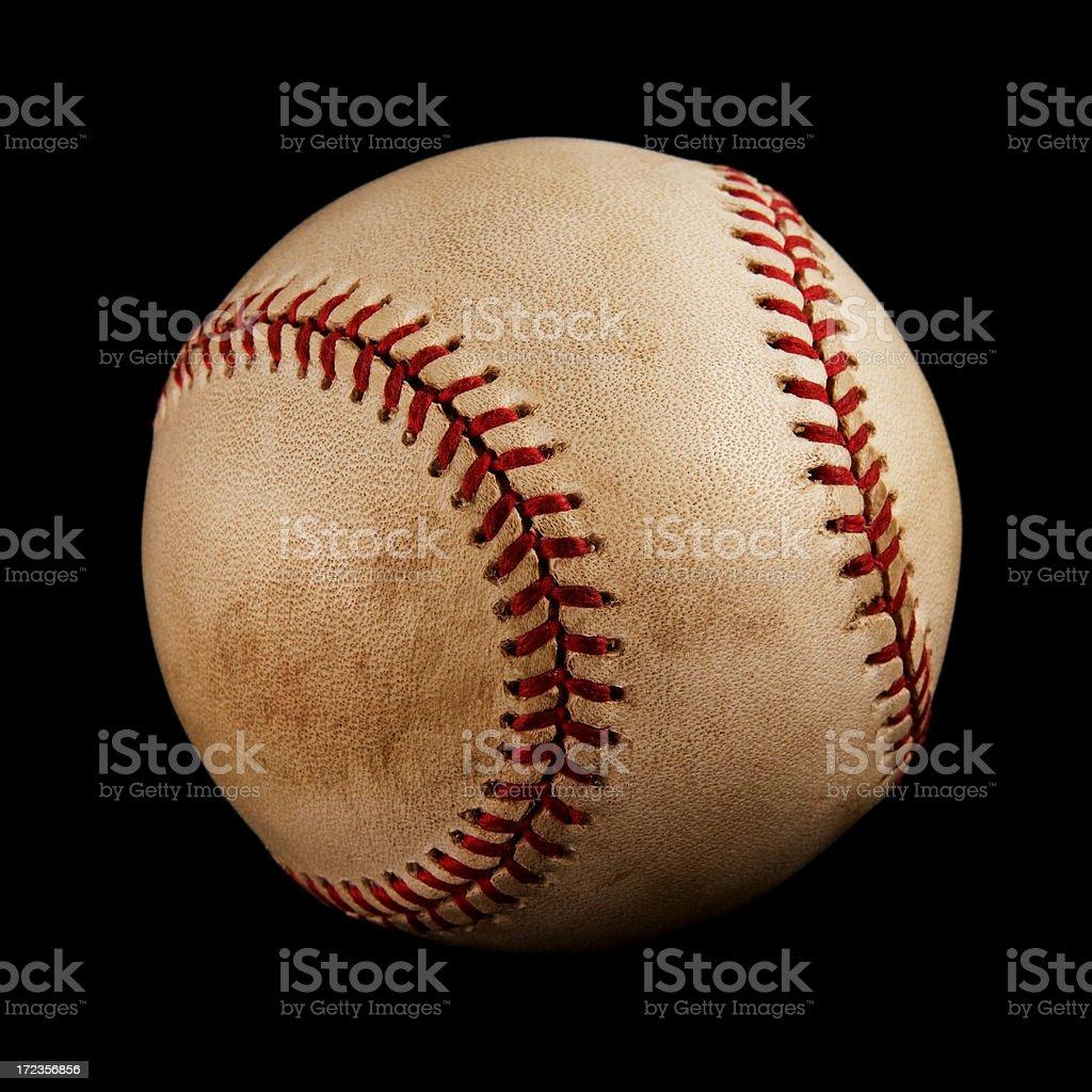 Vintage baseball isolated on black royalty-free stock photo