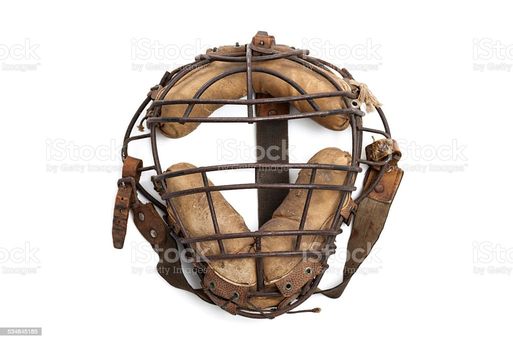 Vintage Baseball Mask stock photo