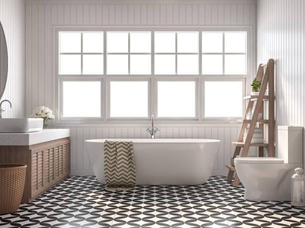 Vintage Badezimmer 3d rendern – Foto