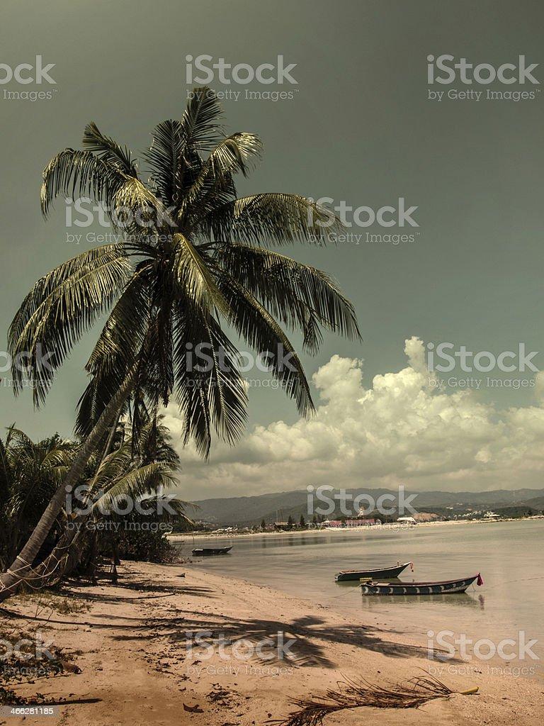 Vintage beach stock photo