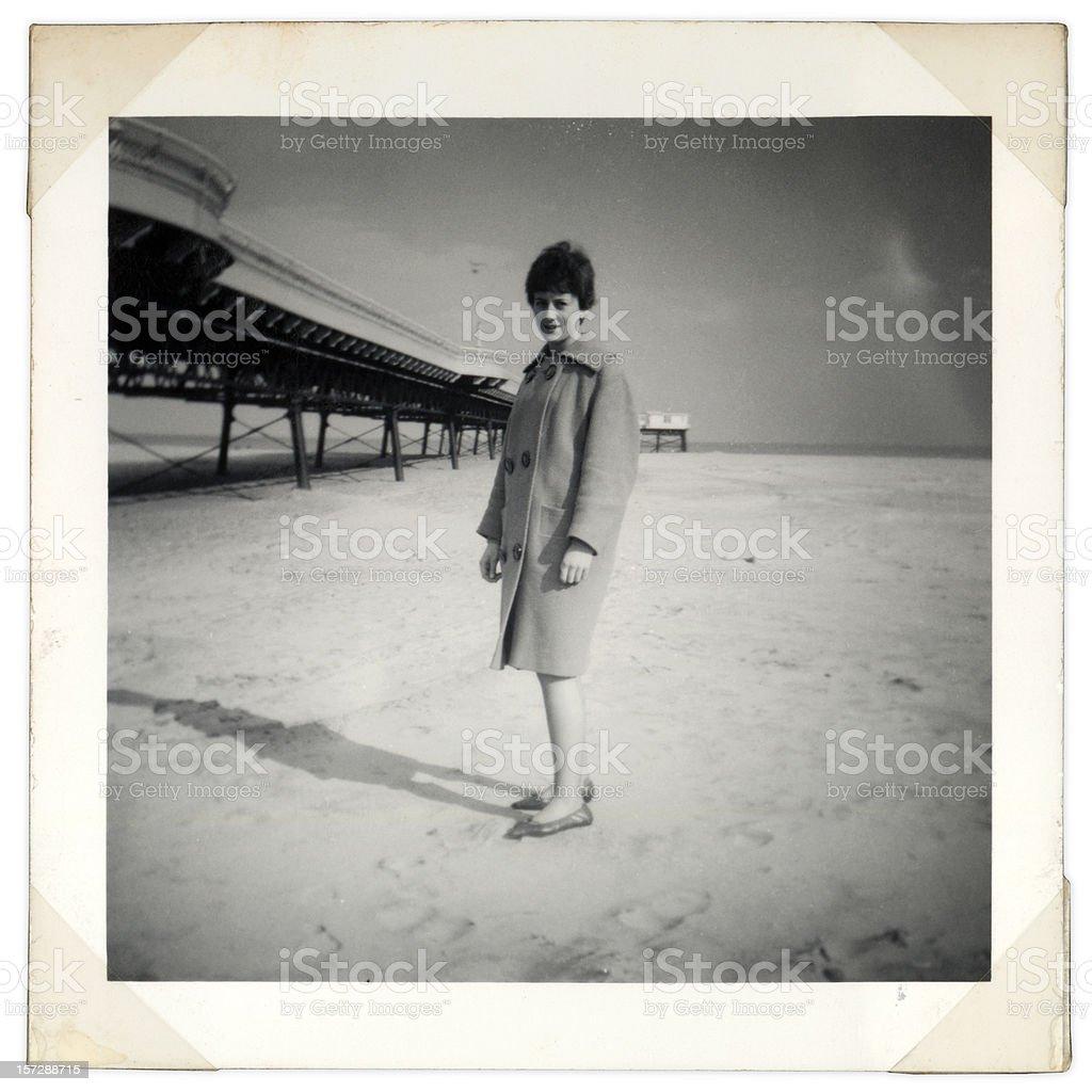 vintage beach shot royalty-free stock photo