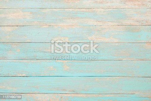 istock Vintage beach wood 1127490759