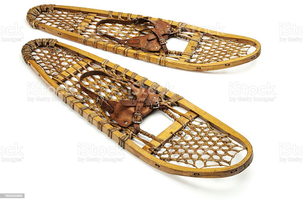 vintage bear paw snowshoes royalty-free stock photo