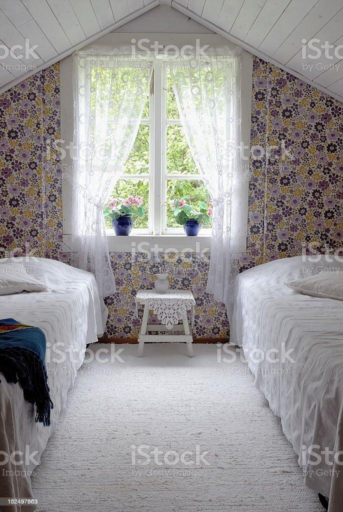 Vintage Bedroom royalty-free stock photo