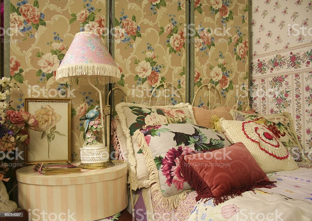 Vintage Bedroom stock photo