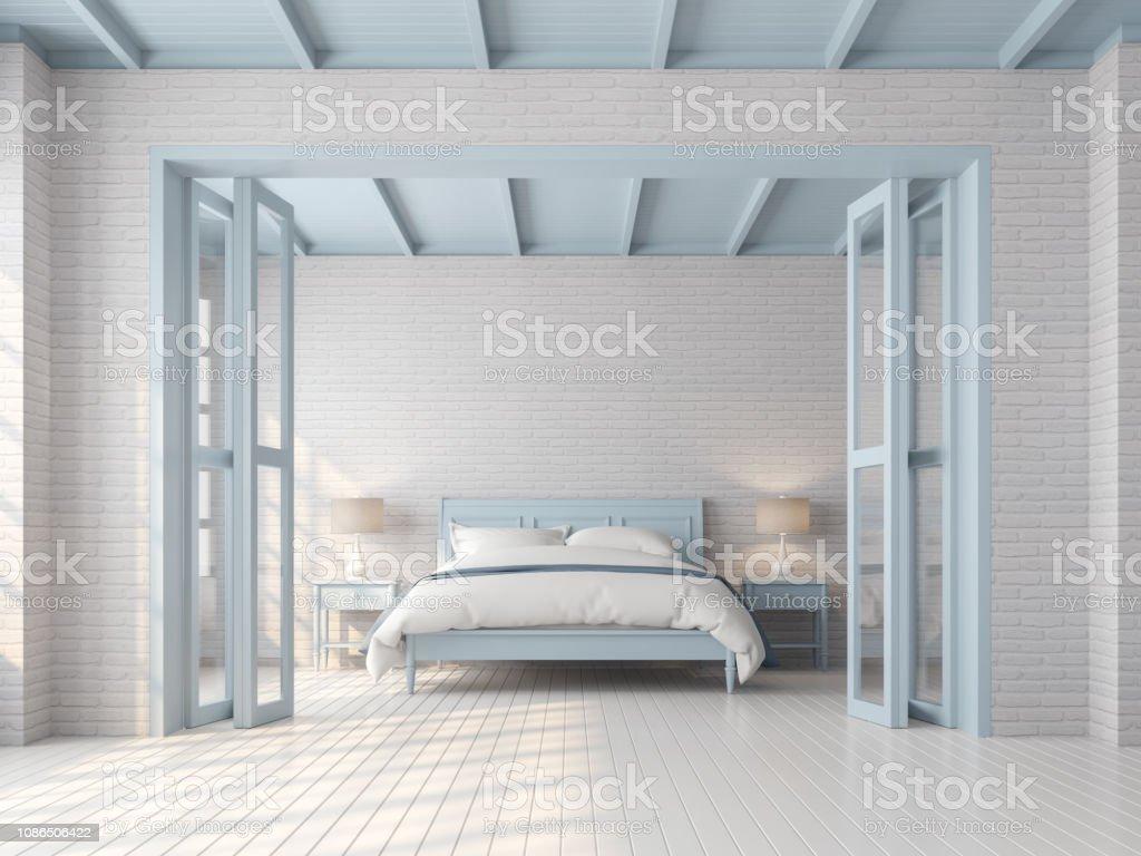 Couleur Des Chambre A Coucher photo libre de droit de chambre À coucher vintage avec rendu