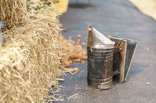 Vintage Beekeeping Smoker Stock Photo - Download Image Now ...