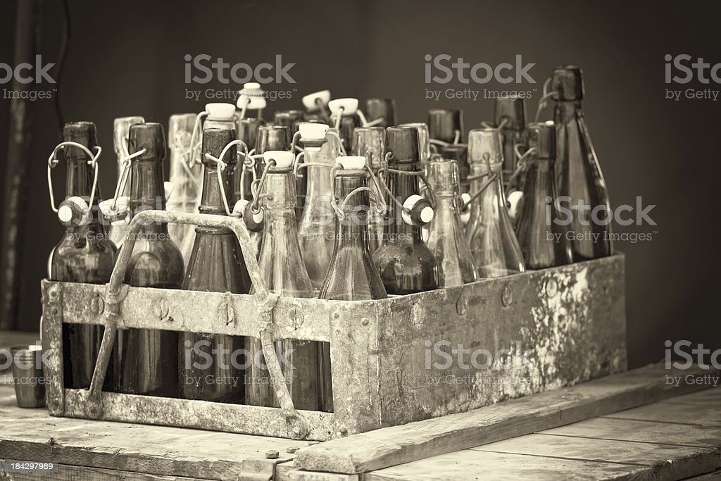 Vintage Beer Crate royalty-free stock photo