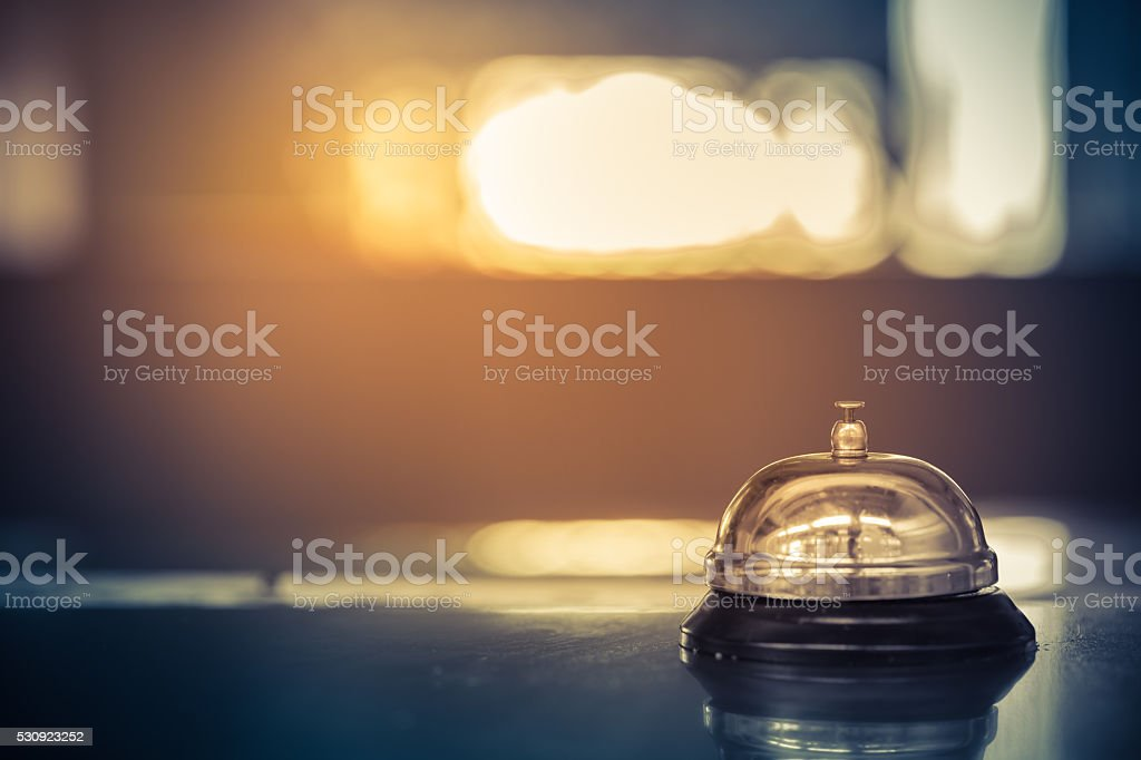 Vintage bell service stock photo