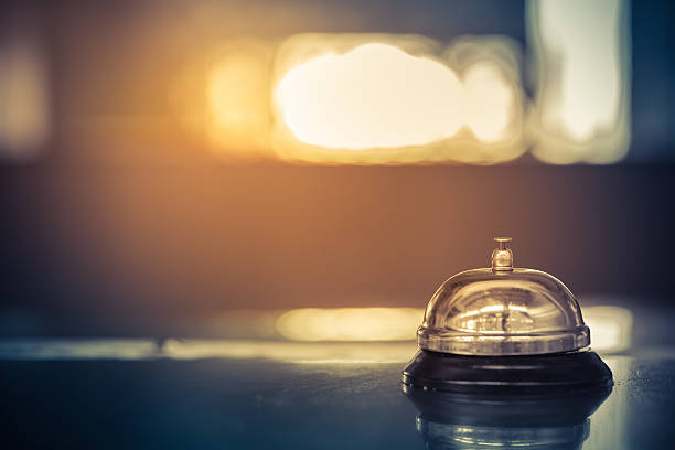 vintage bell service - bell stock pictures, royalty-free photos & images