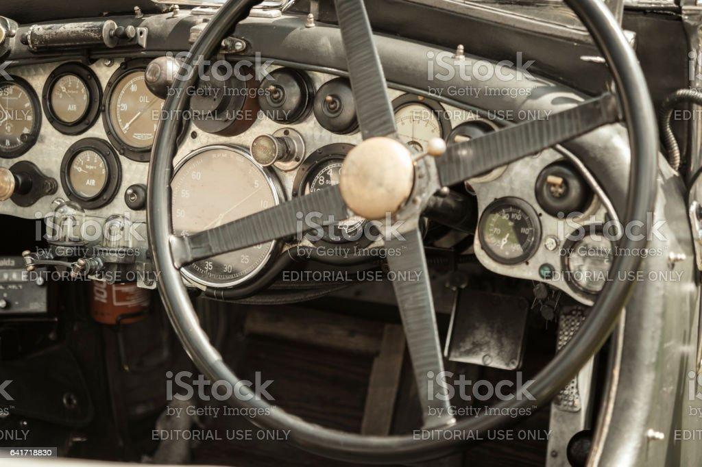Vintage Bentley Classic Car Dashboard stock photo | iStock