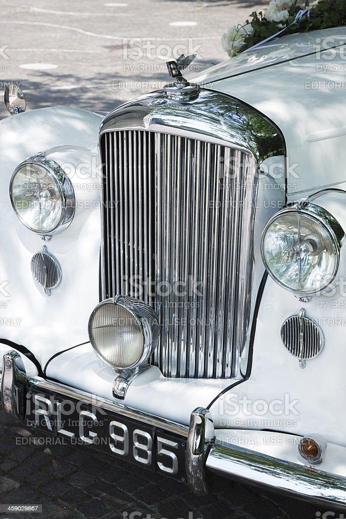 Vintage Bentley Mk Vi Hochzeit Auto Mit Blumen Stock Fotografie Und