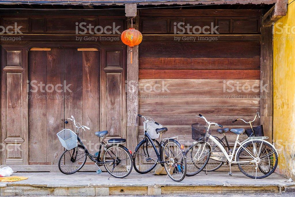 Vintage de bicicleta - foto de acervo