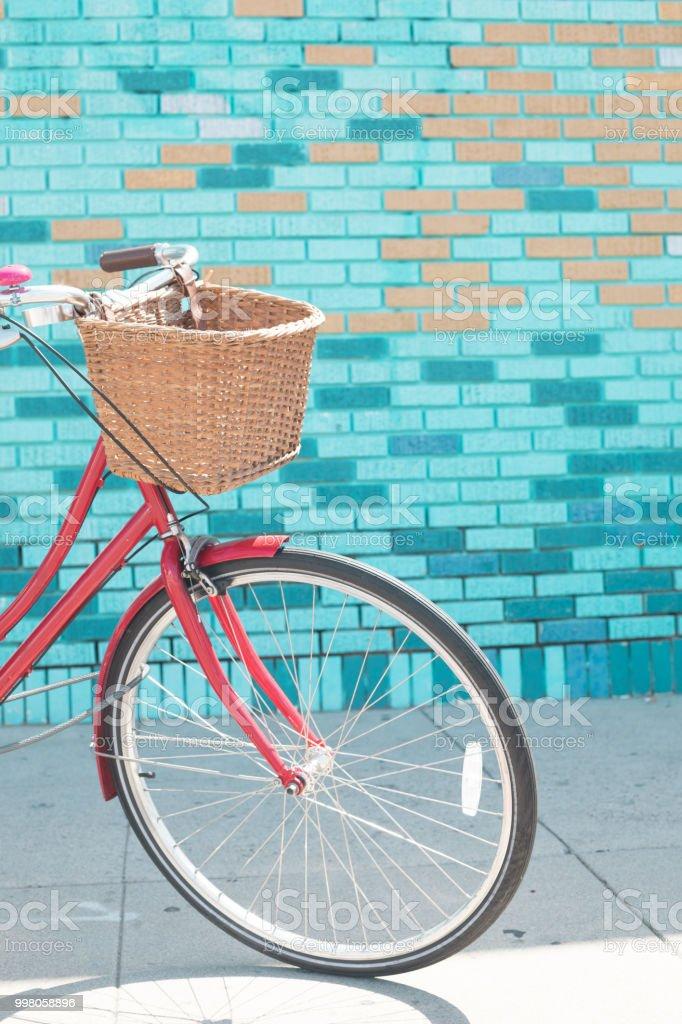 Vintage bicycle stock photo