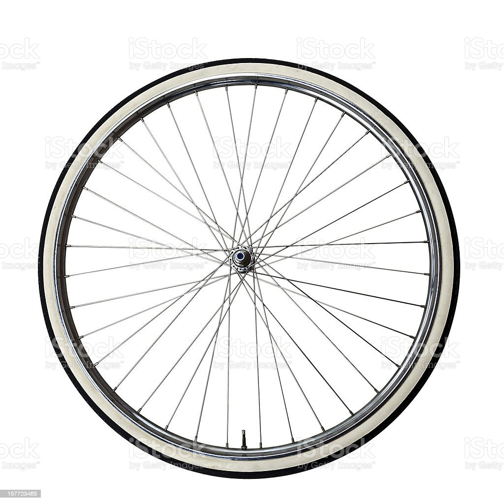 Vintage bicycle Wheel stock photo