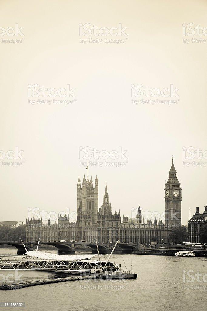 Vintage Big Ben royalty-free stock photo