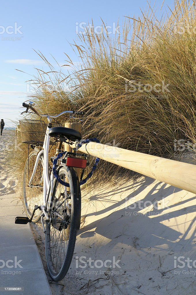 Vintage Bike at the Beach royalty-free stock photo