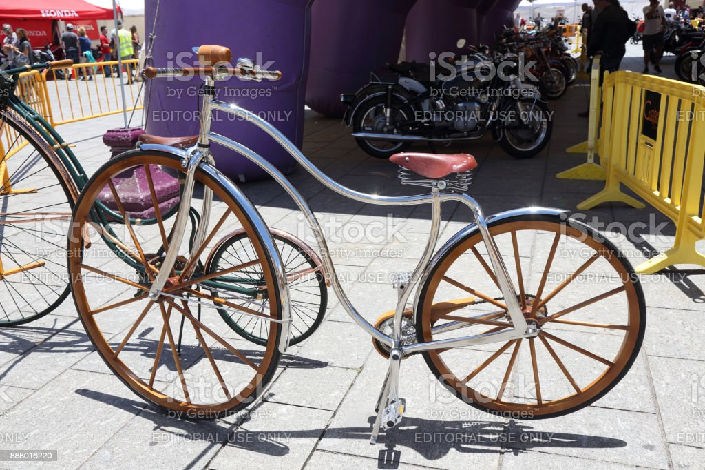 Vintage bike stock photo