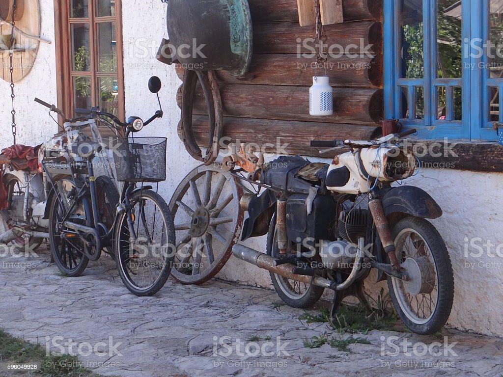 Vintage Bikes royalty-free stock photo