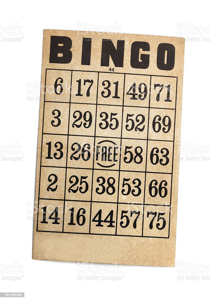 Vintage Bingo Card royalty-free stock photo