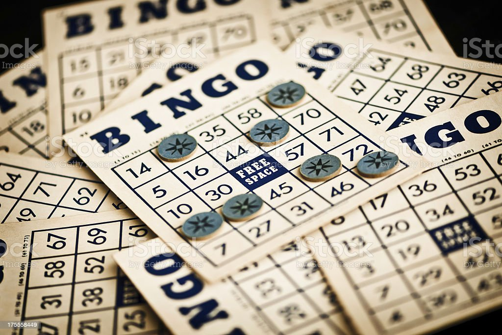 Vintage Bingo Cards stock photo