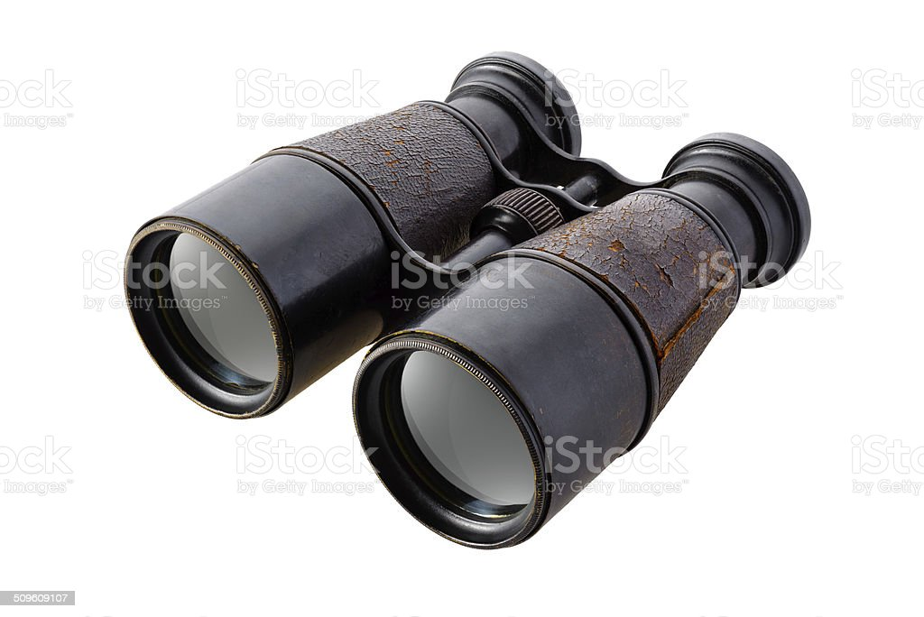 Vintage binoculars royalty-free stock photo